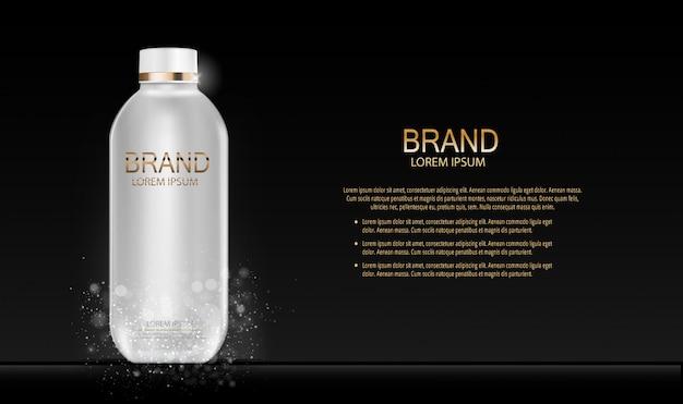 Fashion design makeup cosmetics product . 3d realistic