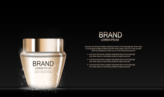 Fashion design makeup cosmetics product. 3d realistic