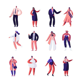 ファッションデザイナーとモデルセット。オートクチュールの服と滑走路。