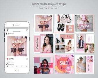 Fashion Discount Social Media Post Template