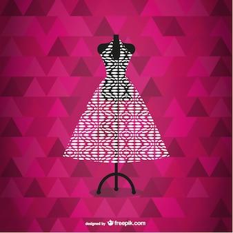 Вектор платье модной иллюстрации