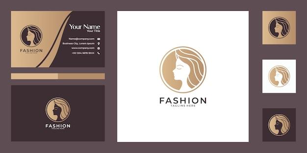 Модный элегантный дизайн логотипа и визитной карточки
