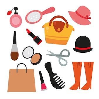 Collezione di elementi di moda