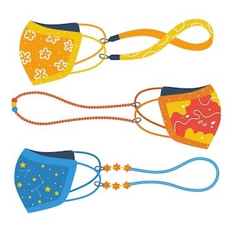 Collezione di cordini per maschere di moda