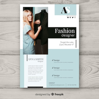 Fashion flyer template with photo