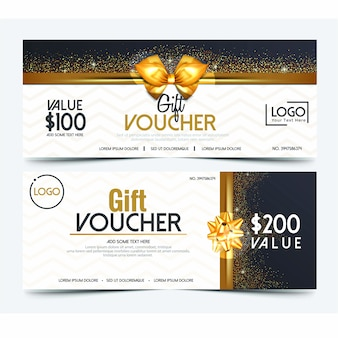 Fashion gift voucher template
