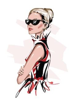 Fashion girl in sunglasses