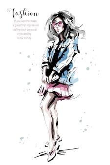 패션 소녀.