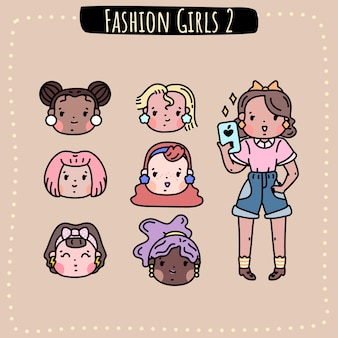Fashion girls hair styles