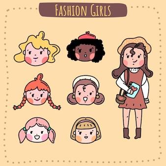 Fashion girls hairstyle