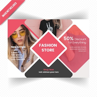 Fashion Horizontal Flyer Design
