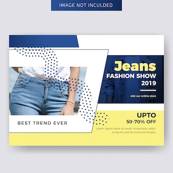 Fashion horizontal flyer template design