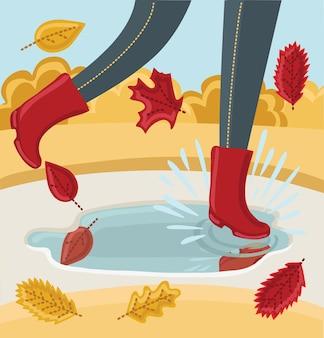 Модная иллюстрация с парой ботинок по щиколотку