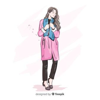 Fashion illustration with female model