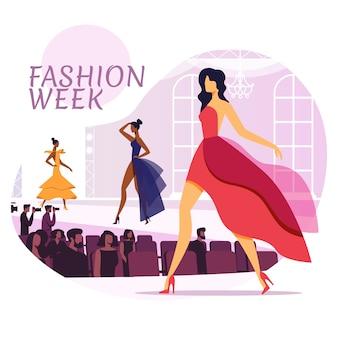 Fashion industry flat социальные медиа макет баннера