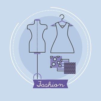 ファッション業界のレタリングとマネキン