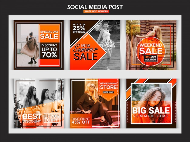 Fashion instagram banner for digital marketing