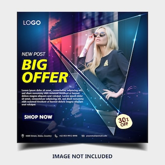 Fashion instagram banner post template