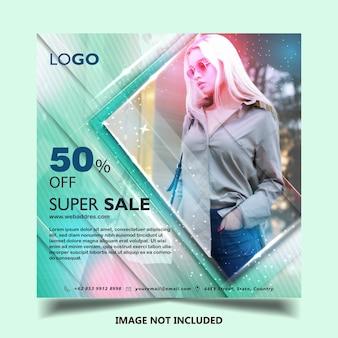 Fashion instagram banner post template