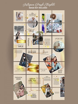 Fashion instagram puzzle set