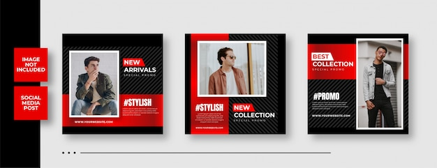 Fashion instagram sale social media square banner template