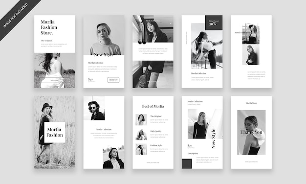 Fashion instagram stories pack template