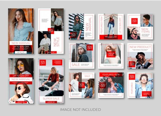 ファッションinstagramストーリーまたはバナーテンプレート