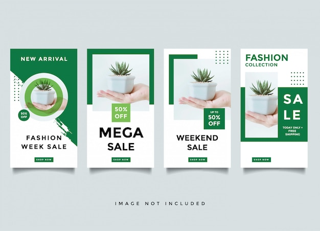 Fashion instragram story media post design template