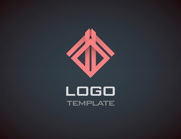 Fashion jewelry luxury concept abstract logo template. business logo