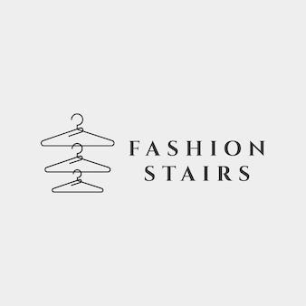 シンプルなラインのファッションの女性の美しさのコレクションロゴテンプレートベクトルイラストアイコン要素-ベクトル