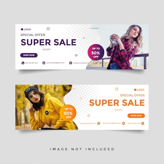 Fashion & lifestyle banner template set