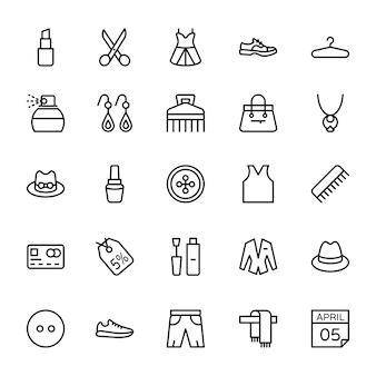 Fashion line icons