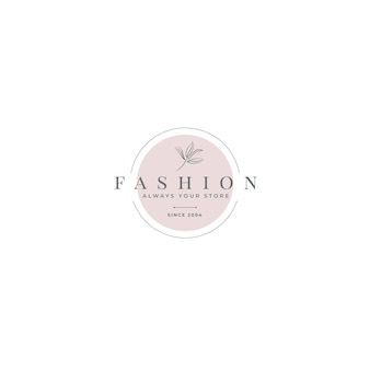 Fashion logo editorial template