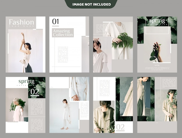 Fashion lookbook brochure template