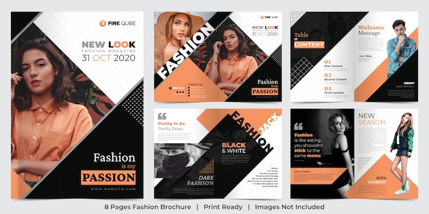 Fashion magazine pages template