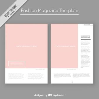 Modello di rivista di moda