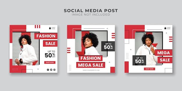 Fashion mega sale social media post template