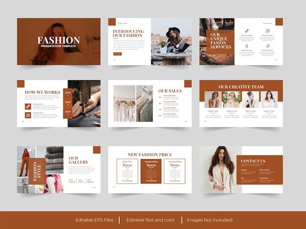 Минималистичный дизайн шаблона презентации моды