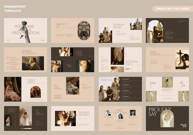 Fashion minimal slides presentation template