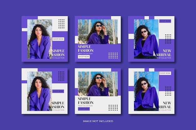 ファッションミニマリストソーシャルメディア投稿テンプレートコレクション