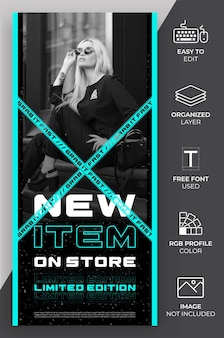 Fashion online shop story template for marketing, promotion and advertising.