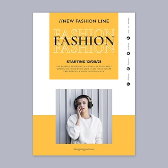 Fashion online shopping poster template