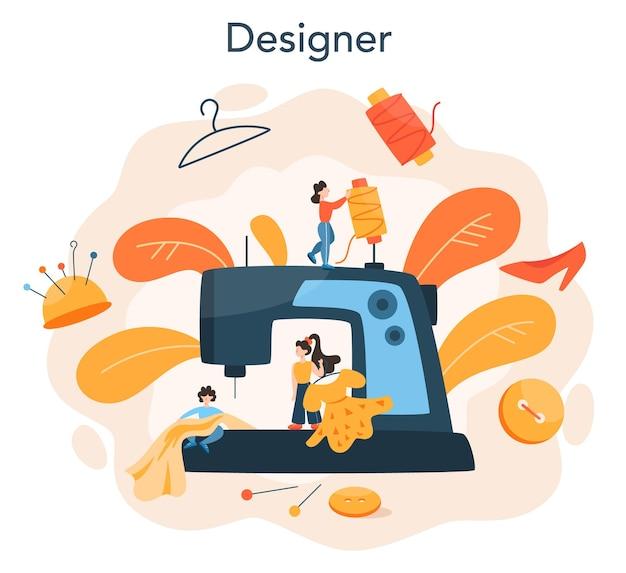 Концепция дизайнера моды или одежды