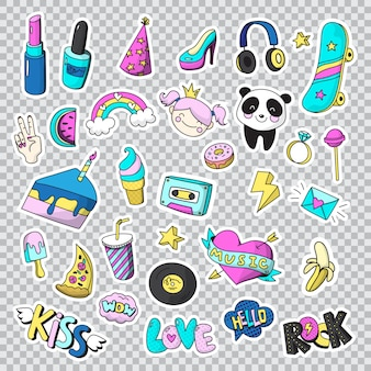 Fashion patch stickers set