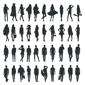 Fashion people silhouette collection