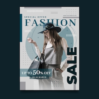 Fashion poster template with photo