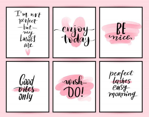 Fashion posters with positive quotes.