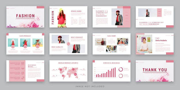 Fashion presentation layout design with infographic element