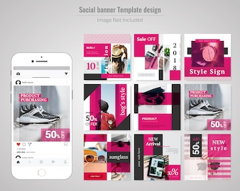 Fashion Product Sale Social Media Post Template