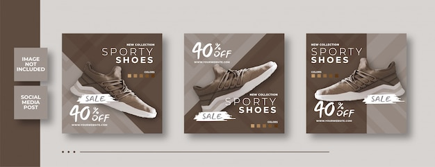 Fashion product sale social media square banner template